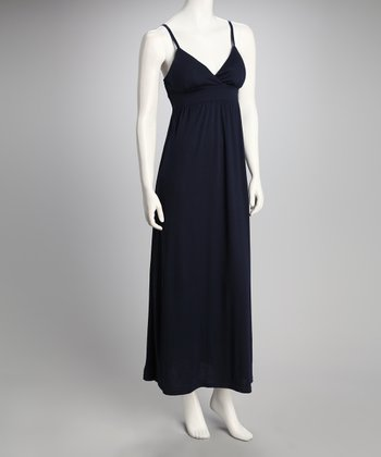 Navy Sash Maxi Dress