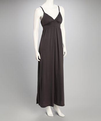 New Graphite Sash Maxi Dress