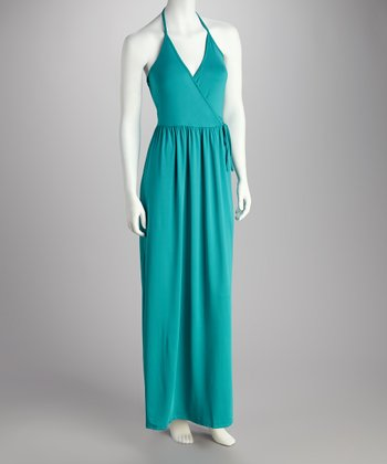 Aquamarine Halter Maxi Dress