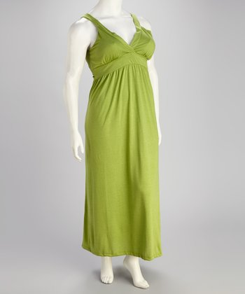Avocado Plus-Size Empire-Waist Maxi Dress