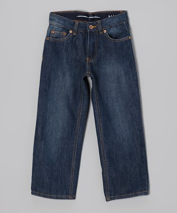 Retro Blue Straight-Leg Jeans - Boys