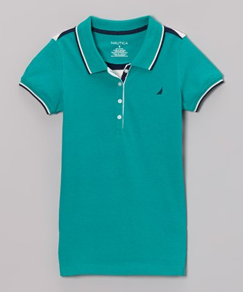 Teal Polo - Girls