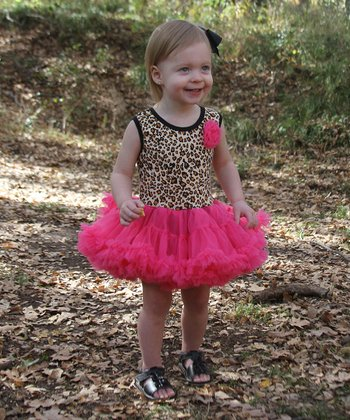 Leopard Flower Ruffle Dress - Infant, Toddler & Girls
