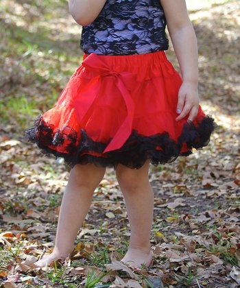 Red & Black Pettiskirt - Infant, Toddler & Girls