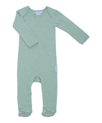Heather Green Organic Footie - Infant