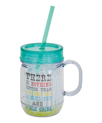 Boston Warehouse 'Cold Drink' 20-Oz. Mason Jar Tumbler
