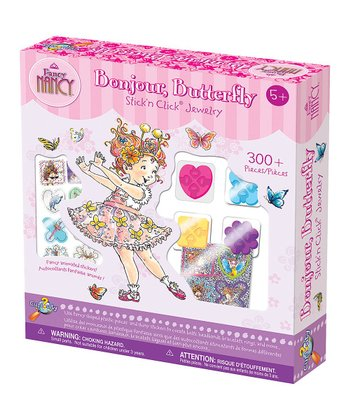 Fancy Nancy Stick'n Click Bonjour, Butterfly Jewelry Kit