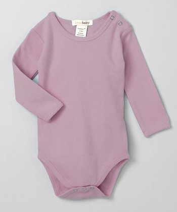 It's-So-Her Lavender Long-Sleeve Bodysuit - Infant