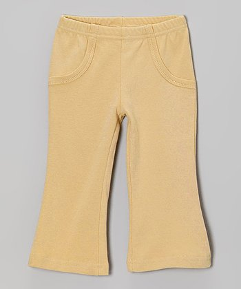 Show-and-Tell Caramel Lounge Pants - Infant