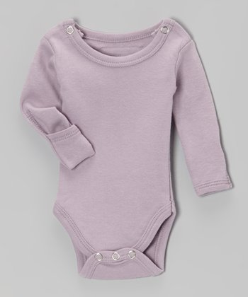 It's-So-Her Lavender Gl'oved-Sleeve Bodysuit - Infant