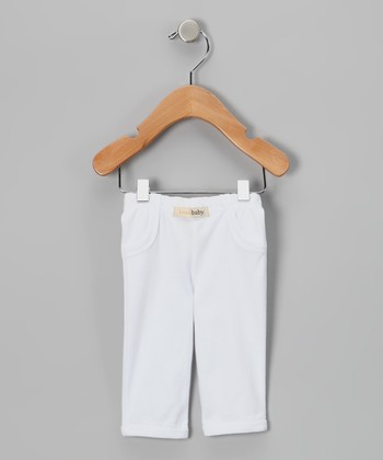 White Lounge Pants - Infant