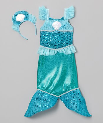 Blue Mermaid Dress-Up Set