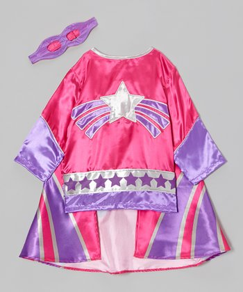 Pink & Purple Super Heroine Dress-Up Set