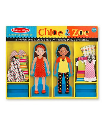 Chloe & Zoe Magnetic Dress-Up Dolls