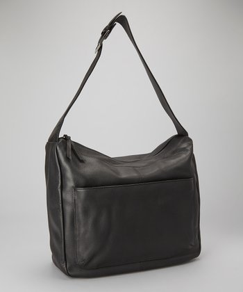 Black Front-Pocket Hobo