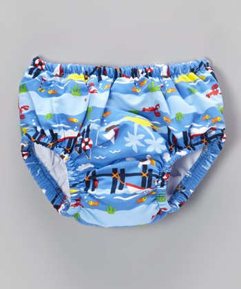Periwinkle Pier Swim Diaper - Infant