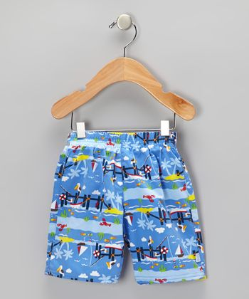 Periwinkle Pier Swim Trunks - Infant & Toddler