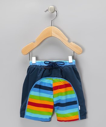 Rainbow Stripe Board Shorts - Infant & Toddler