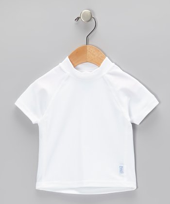 White Short-Sleeve Rashguard - Infant
