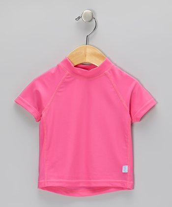 Hot Pink Short-Sleeve Rashguard - Infant & Toddler