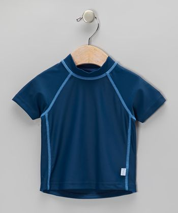 Navy Short-Sleeve Rashguard - Infant & Toddler