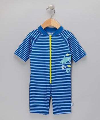 Blue One-Piece Rashguard - Infant & Toddler
