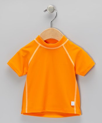 Orange Short-Sleeve Rashguard - Infant & Toddler