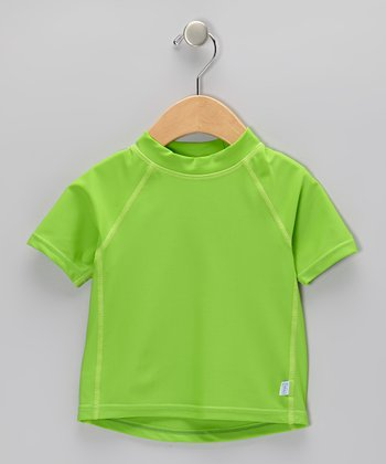 Lime Short-Sleeve Rashguard - Infant