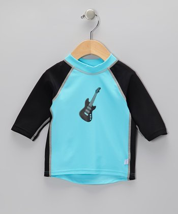 Aqua Guitar Three-Quarter Sleeve Rashguard - Infant & Toddler
