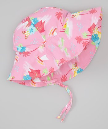 Light Pink Hawaiian Sunhat