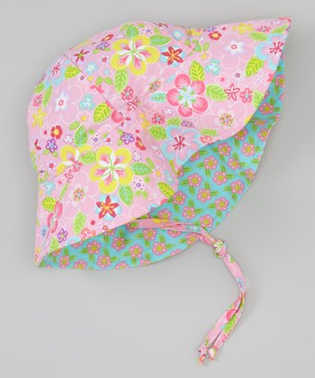 Light Pink Flower Field Sunhat