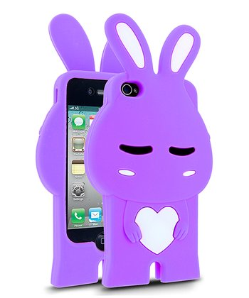 Purple & White Rabbit Case for iPhone 4/4S