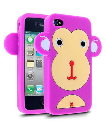 Pink Monkey Face Case for iPhone 4/4S
