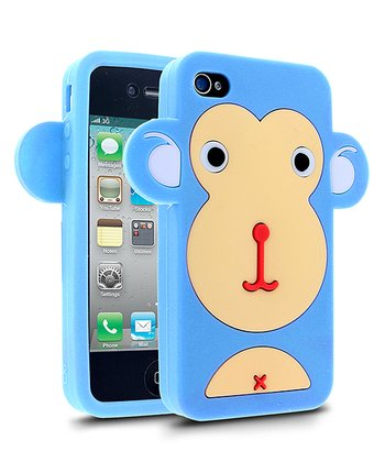 Blue Monkey Face Case for iPhone 4/4S