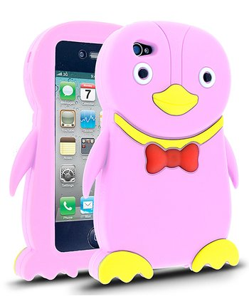 Pink Penguin Case for iPhone 4/4S