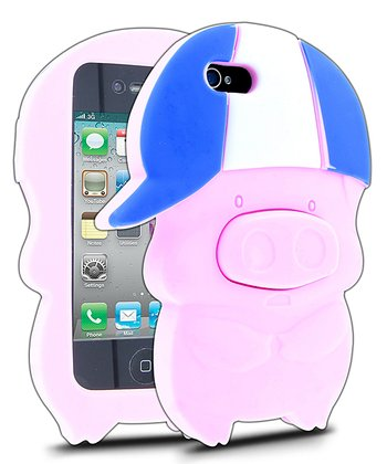 Pink Baseball Pig Case for iPhone 4/4S