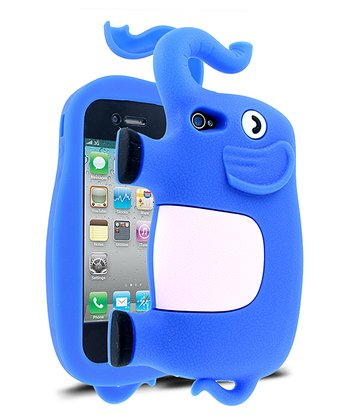 Blue & White Elephant Case for iPhone 4/4S