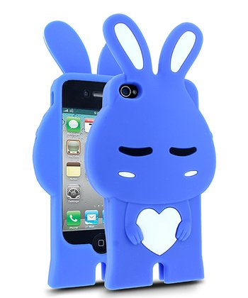 Royal Blue & White Rabbit Case for iPhone 4/4S