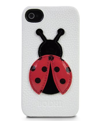White Ladybug Case for iPhone 4/4s
