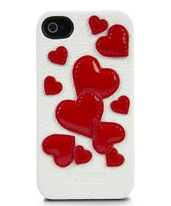 White & Red Hearts Case for iPhone 4/4s