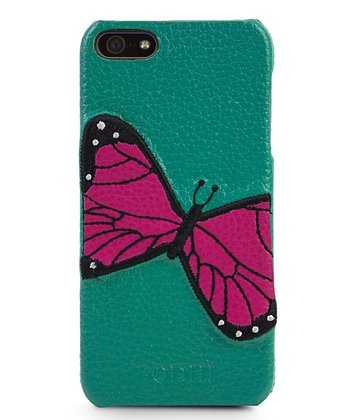 Turquoise Butterfly Case for iPhone 5