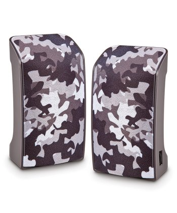 Military Chrome USB Speakers