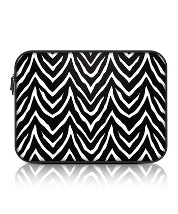 Black Zebra 15.6'' Zippered Laptop Sleeve
