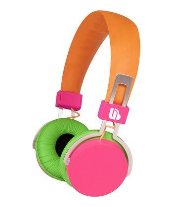 Orange & Pink Urban Beatz Hi-Light Power Headphones