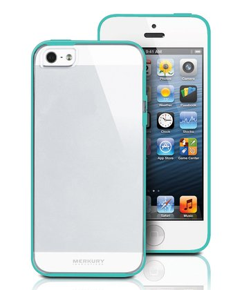Turquoise & Clear Case For iPhone 5