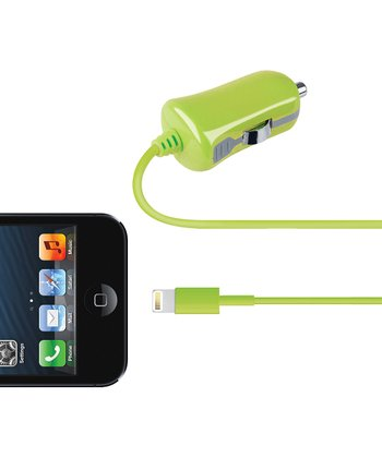 Green Lightning Cable Car Charger