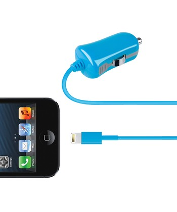 Blue Lightning Cable Car Charger