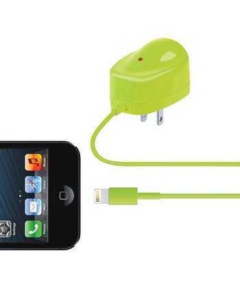 Green Lightning Cable Wall Charger