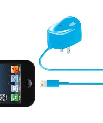 Blue Lightning Cable Wall Charger
