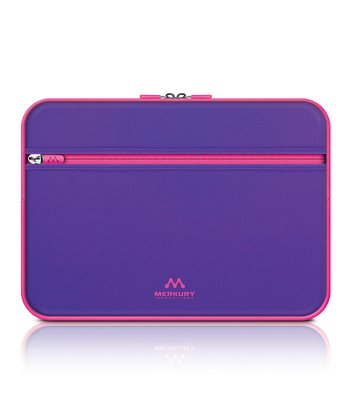 Purple & Pink Zipper Sleeve for iPad